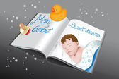 Magazine for babies-boy — Stockvector