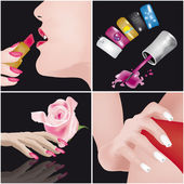 Nais Art-manicure — Stock Vector