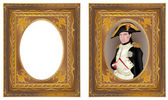 Napoleon Bonaparte in frame — Stock Vector