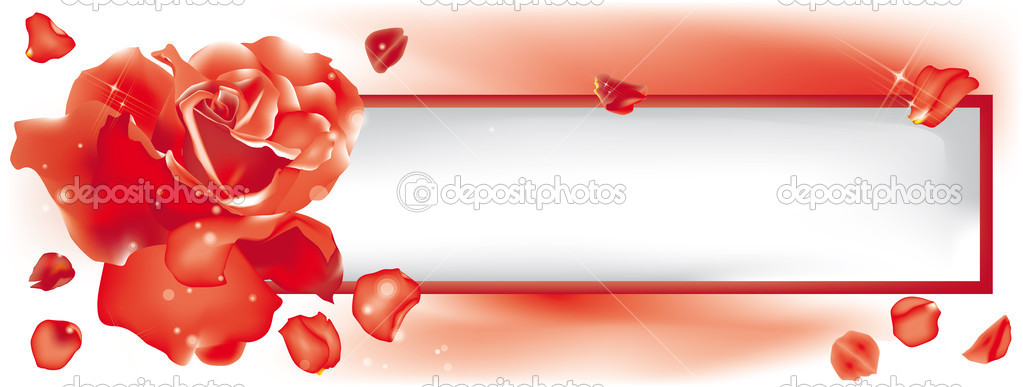 Beautiful red rose with frame for all your messages — Stock Vector #11568654
