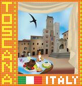 Tuscan Mosaic 2 — Stock Vector