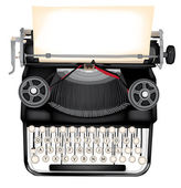 Typewriter — Stock Vector