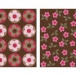 Flowery pattern — Stockvectorbeeld