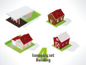 Set #4 Isometric building. — Stock Vector