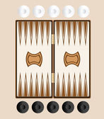 Backgammon — Stock Vector