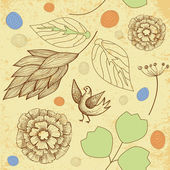 Hand Drawn. seamless. vintage decorative background — Vettoriale Stock