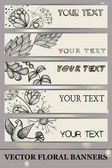 Vector floral banners. hand drawing — Stockvector