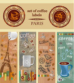 Set of coffee labels, banners. Paris — Stock Vector