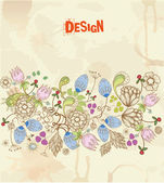 Stylish floral background, retro flowers for vintage design — Stock Vector