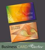 Set of business cards — Vector de stock