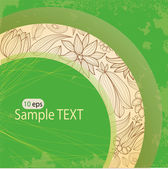 Floral background for your text — Stock Vector