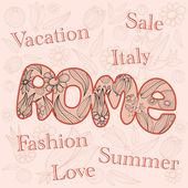 Mode, vente, italie. — Vecteur
