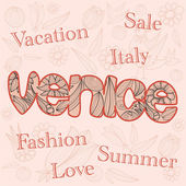 Fashion, Sale, Italy. — Vector de stock