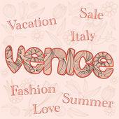 Moda, sprzedaż, włochy. — Wektor stockowy