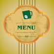 Vector, menu, coffee, bar. — Stock Vector #11642377