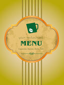 Vector, menu, coffee, bar. — Stock Vector