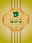 Vector, menu, coffee, bar. — Stock Vector