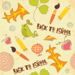 Seamless background. back to school — Vector de stock