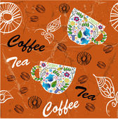 Coffee background, seamless pattern — Stock Vector