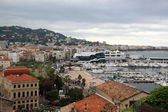 Cannes city view and Harbor — Stock Photo