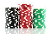 Stack of casino gambling chips — Stock Photo