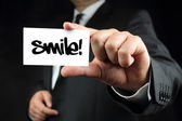 Smile, business card — Stock Photo