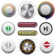Vector Buttons Set for Web and Mobile — Stock Vector