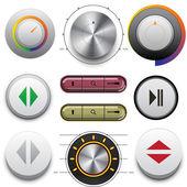 Web ve mobil için düğmeleri vektör — Stok Vektör