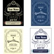 Set create your own bottle labels — Imagen vectorial