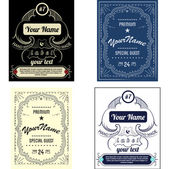 Set create your own bottle labels — Stock Vector