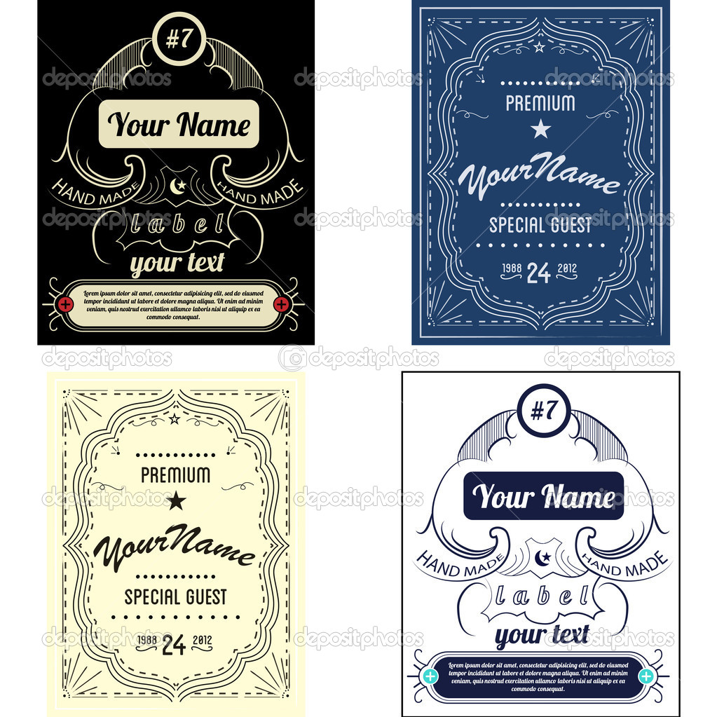 Set create your own bottle labels. Vector/ — Stock Vector #11062317