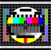 Test TV screen — Stock Vector