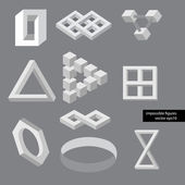 Optical illusion symbols. Vector illustration. — Vector de stock
