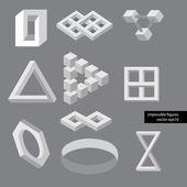 Optische illusie symbolen. vectorillustratie. — Stockvector