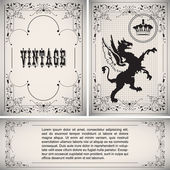 Vector vintage border — Stock Vector