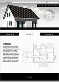 Website vector template - elegant design — Stock Vector