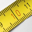 Tape measure macro — 图库照片