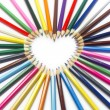 Pencil heart macro — Stock Photo