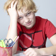 Stock Photo: School stress