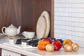 Kitchen cooking details — 图库照片
