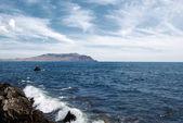 Black sea in Sudak city — Stock Photo