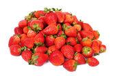 Fruits fraises isolement sur fond blanc — Photo