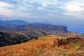 Krym. Sudak. widok z góry kokush-kai — Zdjęcie stockowe
