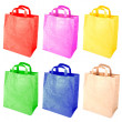 Colorful paper bags isolated on a white background — Stock Photo