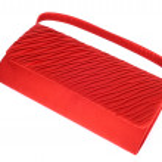 Red ladies handbag isolated on white background — Stock Photo #11595027