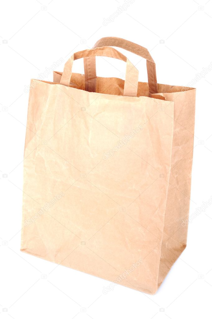 Paper bag isolated on a white background — Stock Photo #11595052