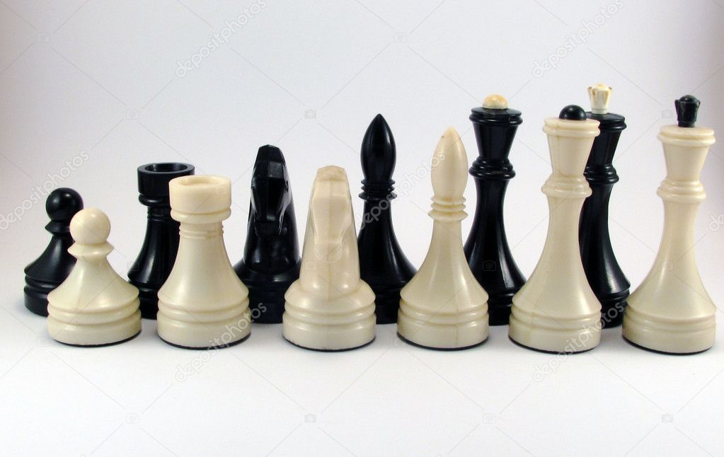 Chessmen on background — Stock Photo #11450110