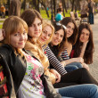 Stock Photo: Girls in Park