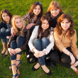 Beautiful teenage girls — Stock Photo