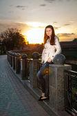 Portrait of the beautiful teenage girl — Stock Photo